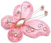 Motýlek světle růžový,