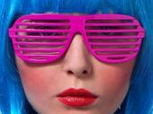 """Párty brýle """"žaluzie"""" růžové,"""