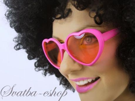 Party brýle srdíčka růžová - Obrázek č. 1