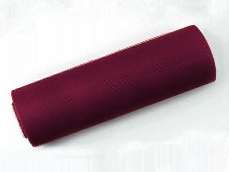 Tyl 15 cm x 9 m burgundy - Obrázek č. 1