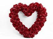 Dekorační srdce burgundy,