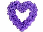 Dekorační srdce fialové,