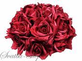 Buket burgundy růže,