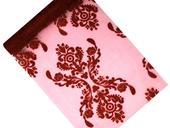 Organza 36 cm x 9 m burgundy s ornamentem,