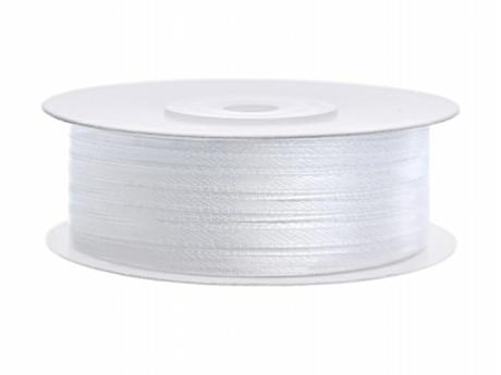 Stuha saténová 3 mm x 90 m bílá - Obrázek č. 1