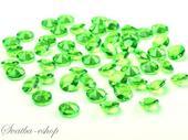 Dekorační diamanty 12 mm jasně zelené,