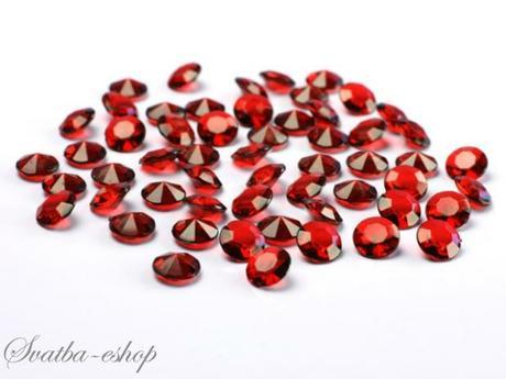 Dekorační diamanty 12 mm burgundy - Obrázek č. 1