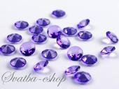 Dekorační diamanty 12 mm fialové,