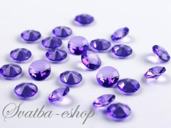Dekorační diamanty 12 mm fialové - Obrázek č. 1
