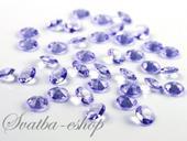 Dekorační diamanty 12 mm světle fialové,