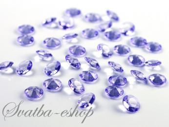 Dekorační diamanty 12 mm světle fialové - Obrázek č. 1