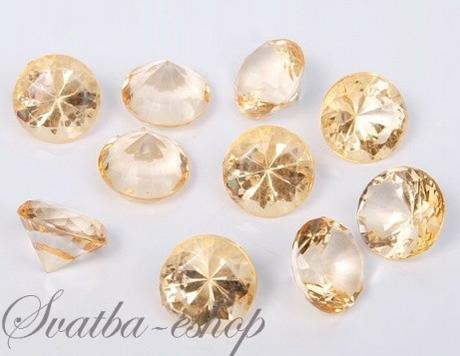 Dekorační diamanty 20 mm zlaté - Obrázek č. 1