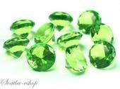 Dekorační diamanty 20 mm zelené,