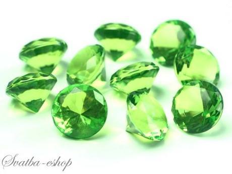 Dekorační diamanty 20 mm zelené - Obrázek č. 1