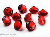 Dekorační diamanty 20 mm burgundy,