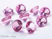 Dekorační diamanty 20 mm růžové,