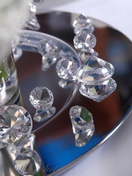 Dekorační diamanty 30 mm čiré - Obrázek č. 1