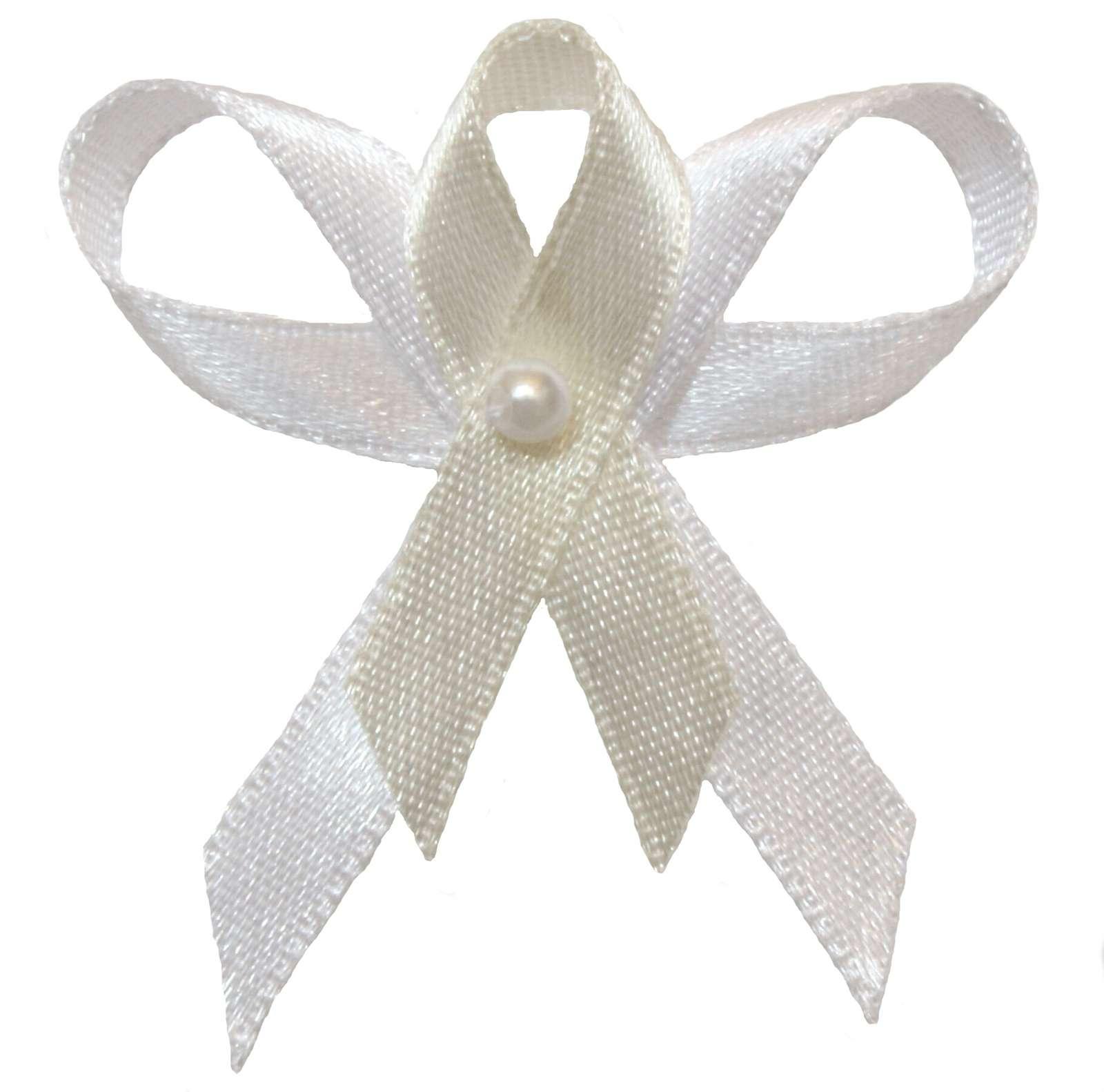Svatební vývazek bílo ivory - Obrázek č. 1