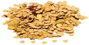 Konfety srdíčka zlatá - Obrázek č. 1