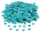 Konfety srdíčka tyrkysově modrá,