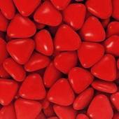 Čokoládové srdíčko červené 1 ks,