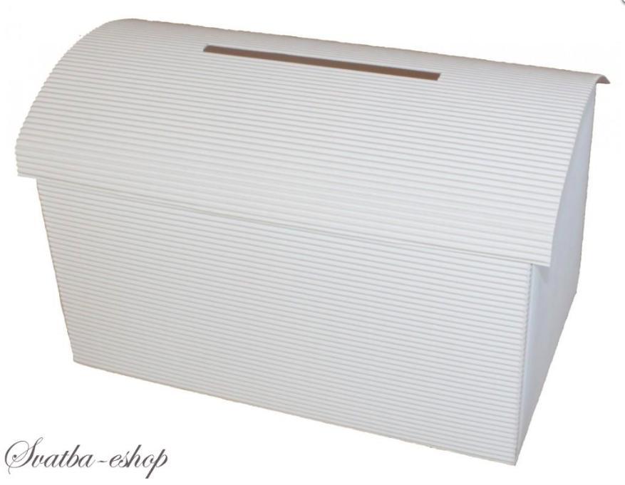 Svatební pokladnička velká bílá lepenka k dozdoben - Obrázek č. 1