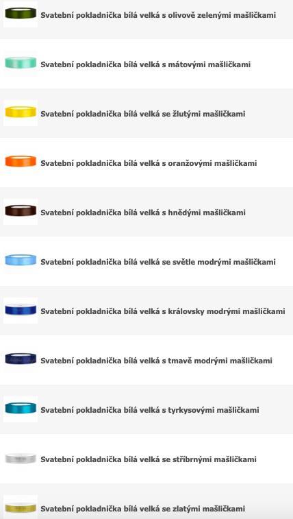 Pokladnička bílá velká s mašličkami - více barev - Obrázek č. 3