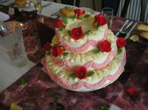 Svatební dortík.