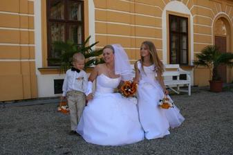 se synovečkem Davídkem a sestřenkou Pavlínkou