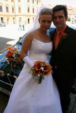 Zátiší s autem nevěsty
