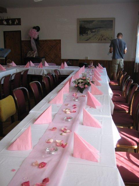 Svatební tabule + svatební účesy - inspirace - A zase ta růžová