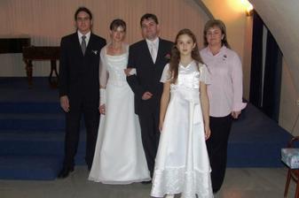 sestra ženicha s již velkými dětmi