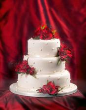 Nádherný dortík, takový bude, ale kvítky budou oražové