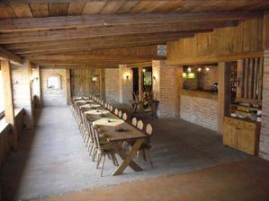 interiér naší oblíbené restaurace