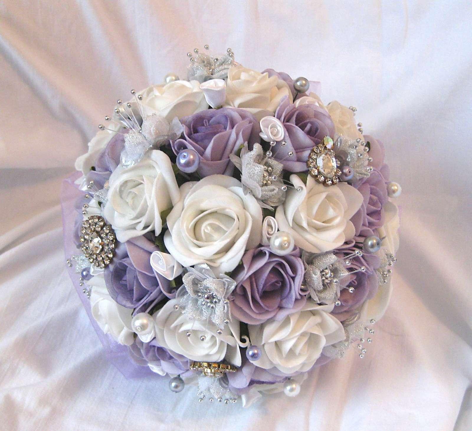 Svatební kytice lila - Obrázek č. 1