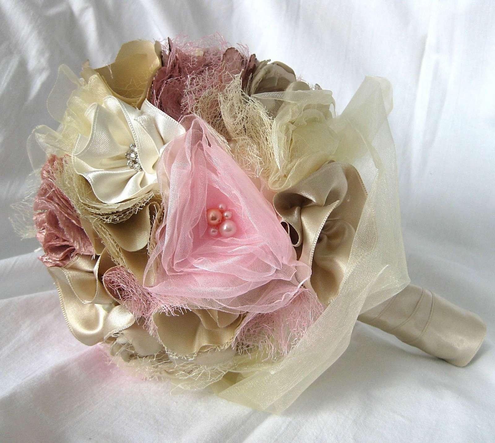 Svatební kytice - látková - Obrázek č. 1