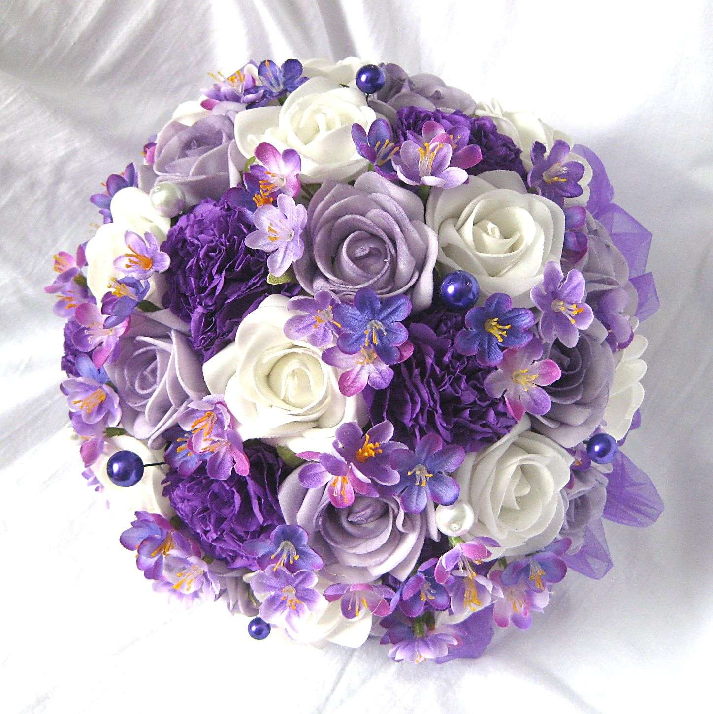 Svatební kytice fialová - Obrázek č. 1