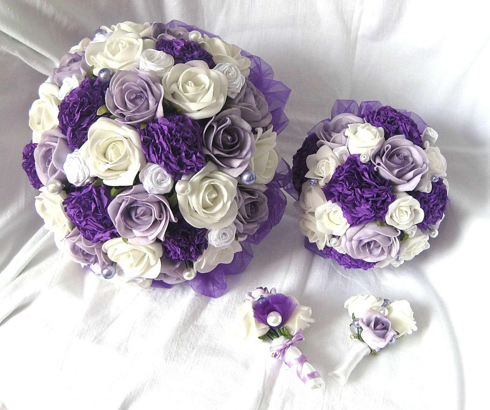 Svatební set tmavě fialový - Obrázek č. 1
