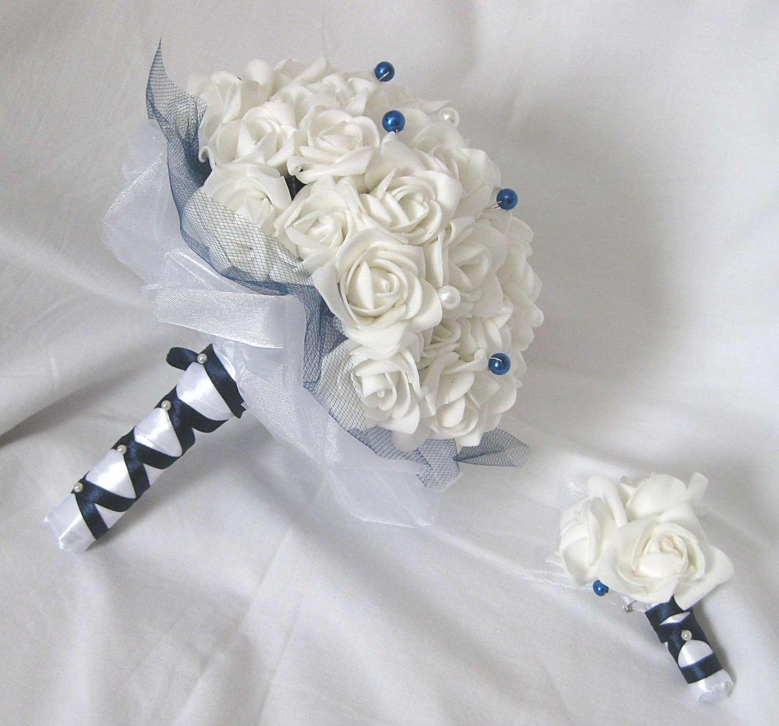 Svatební set - jednoduchá tmavě modrá - Obrázek č. 1