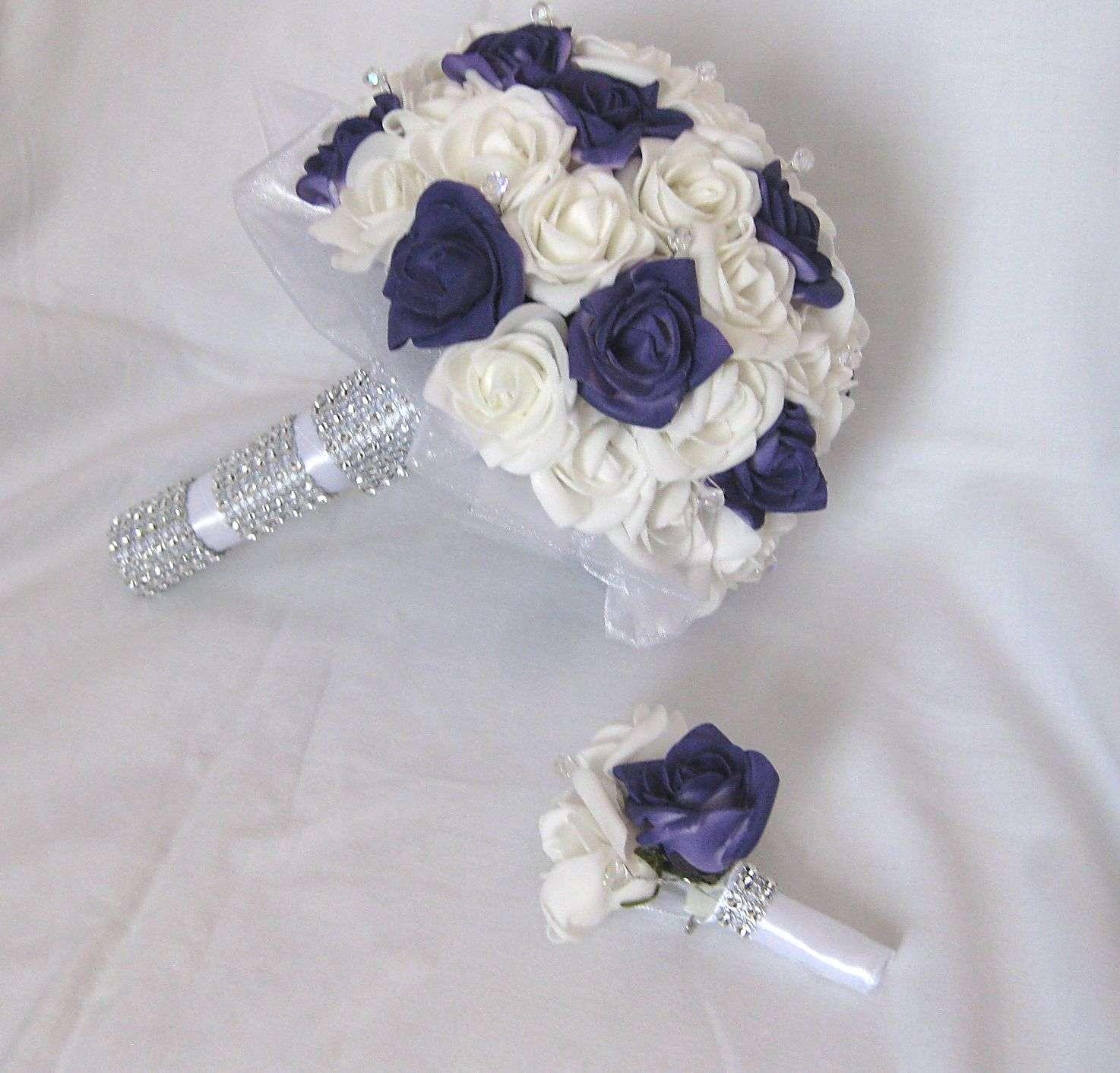 Svatební set jednoduchý - tmavě fialová - Obrázek č. 1