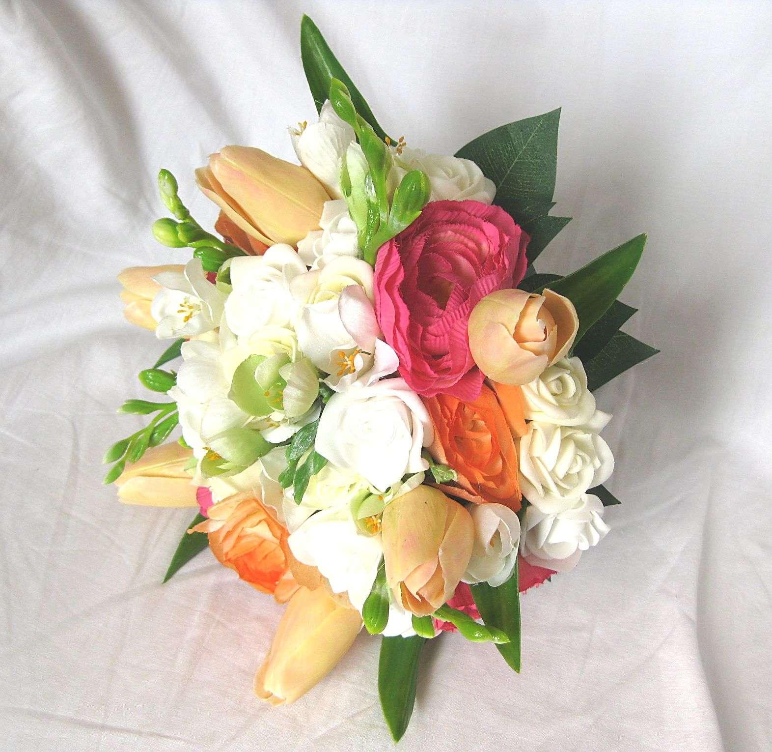 Svatební kytice - tulipán, ranunculus, frézie - Obrázek č. 4