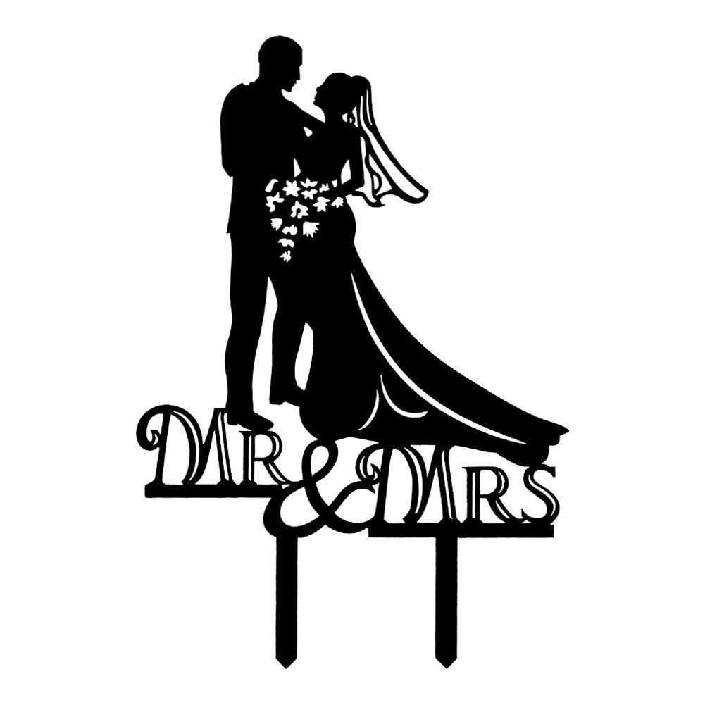 Cake topper - pán a paní kytky - Obrázek č. 1