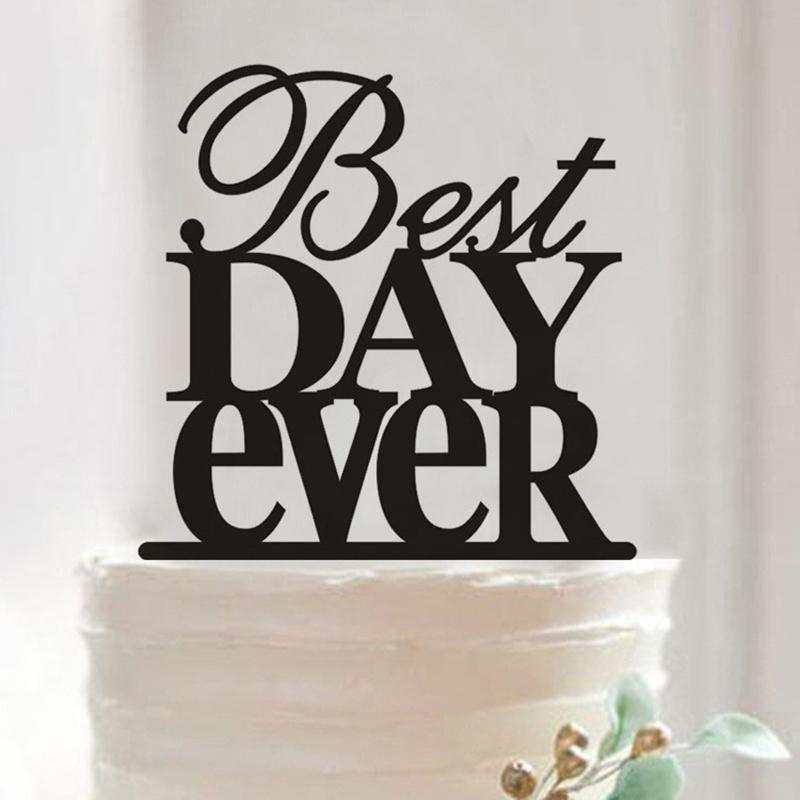 Cake topper Nejlepší den - Obrázek č. 1