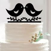 Cake topper Ptáčci,