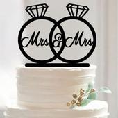 Cake topper Prsteny,