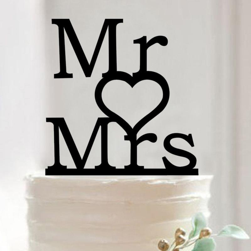 Cake topper Pán srdce paní - Obrázek č. 1