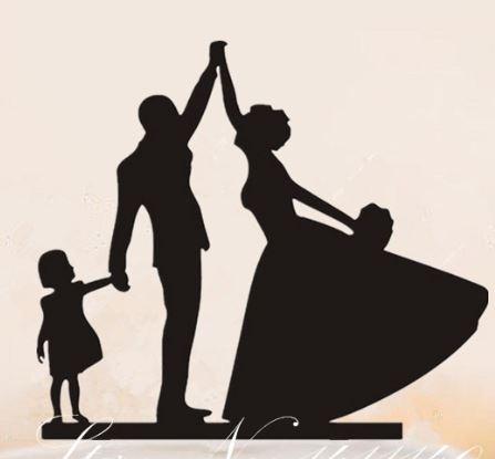 Cake topper - Rodina 2 - Obrázek č. 1