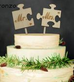 Cake Topper - Mr a Mrs puzzle,