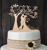 Cake Topper - strom dřevěný,