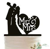Cake Topper - Mr a Mrs v srdci,